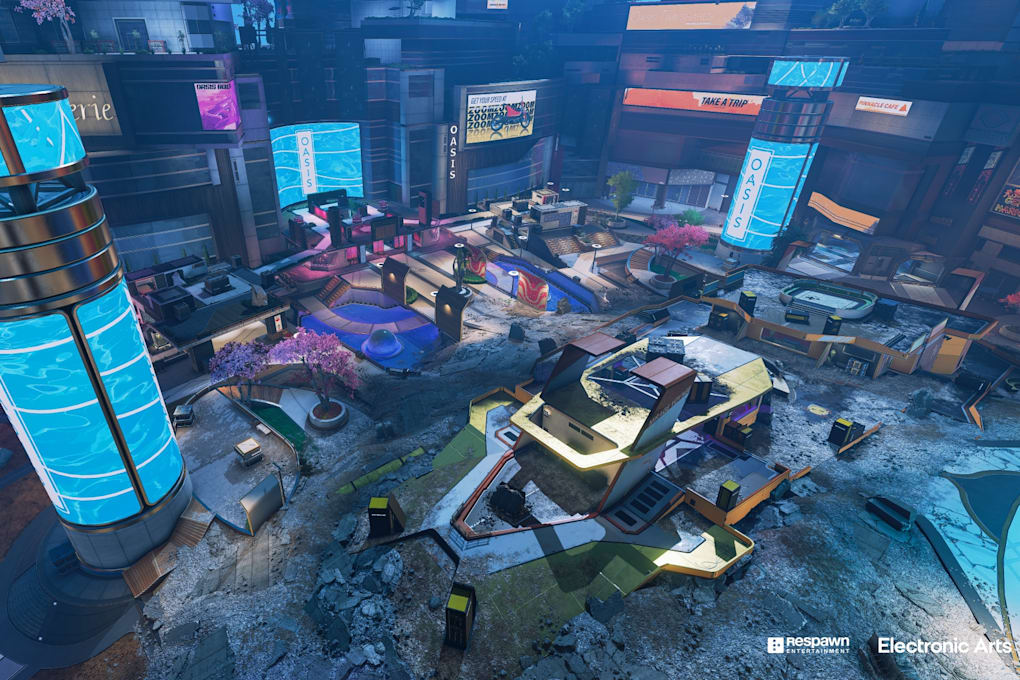 The Apex Legends Arenas card Party Crasher at a glance.  This new mode is all about quick, short arena matches