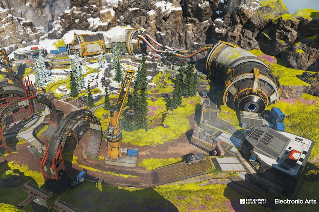 The Apex Legends Arenas Phase Runner map at a glance.  There are two own maps at the start, more will follow.