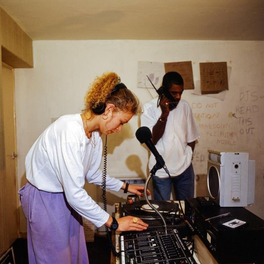 Fantasy FM's DJ Stacey & DJ Foxy in their Hackney studio