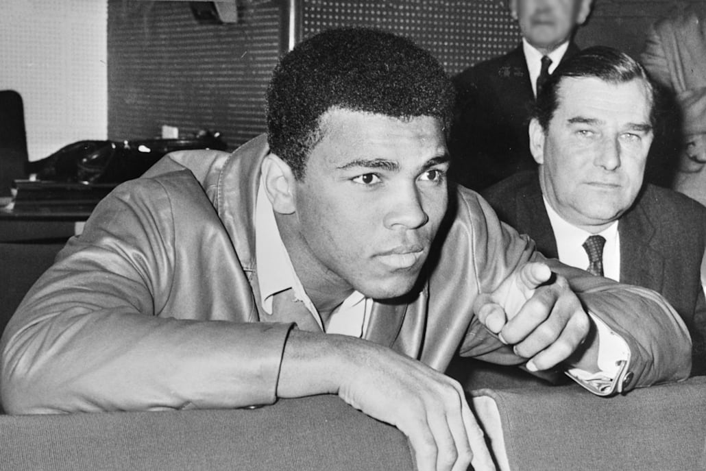 A photo of Muhammad Ali in 1966