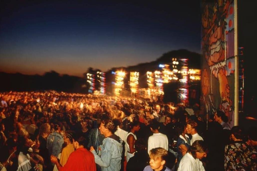 Sunrise at World Dance rave