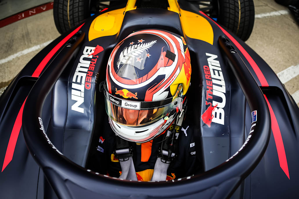 Liam Lawson #5 Hitech GP, at round four of the FIA Formula 3 Championship.