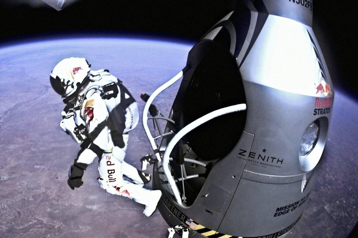 redbull marketing space jump