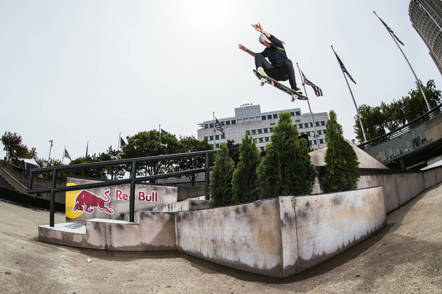 Leticia Bufoni Holds It Down in Hart Plaza