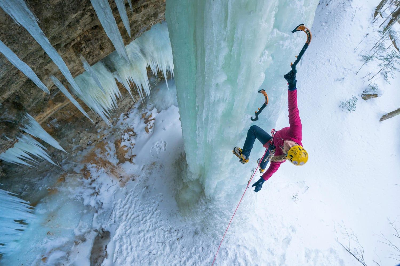 Ice Climbing Adventure in Michigan's Upper Peninsula