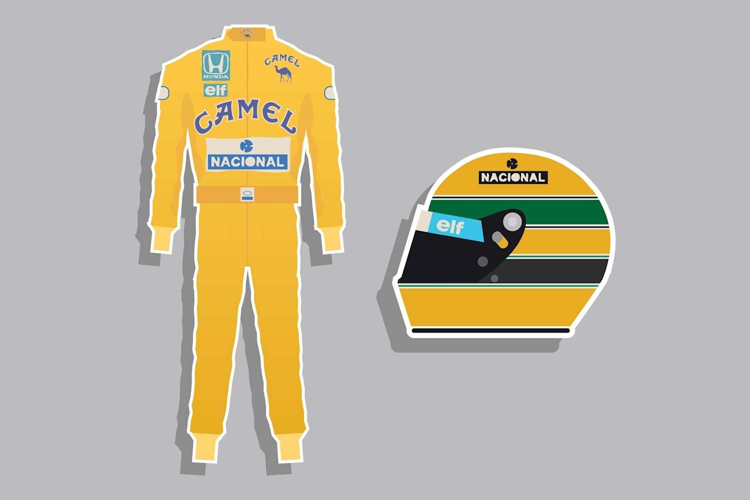 Illustrated Guide To The Evolution Of F1 Race Suits