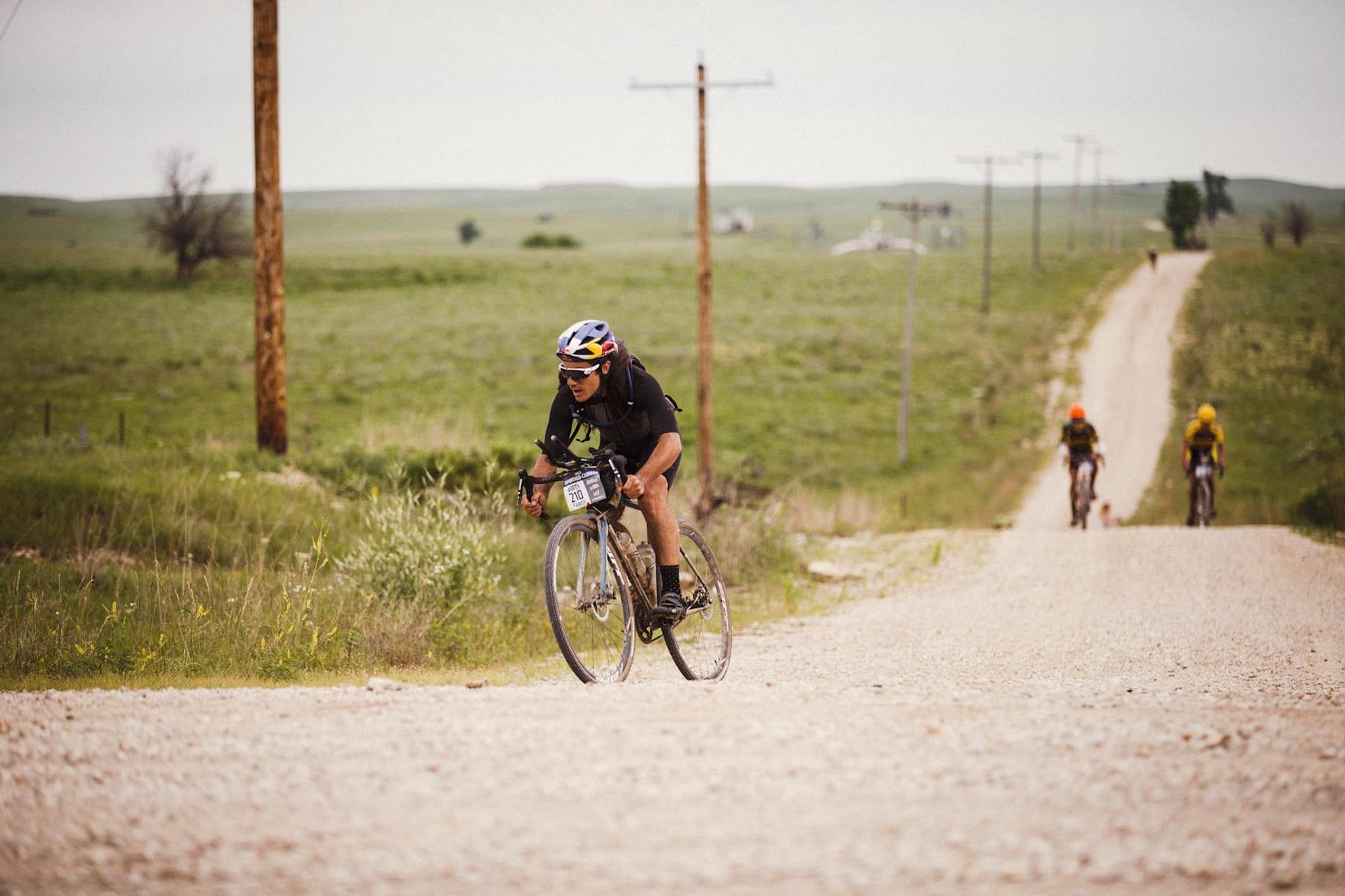 Nico Deportago-Cabrera Rennen an der Dirta Kanza in Emporia, KS am 3. Juni 2017.