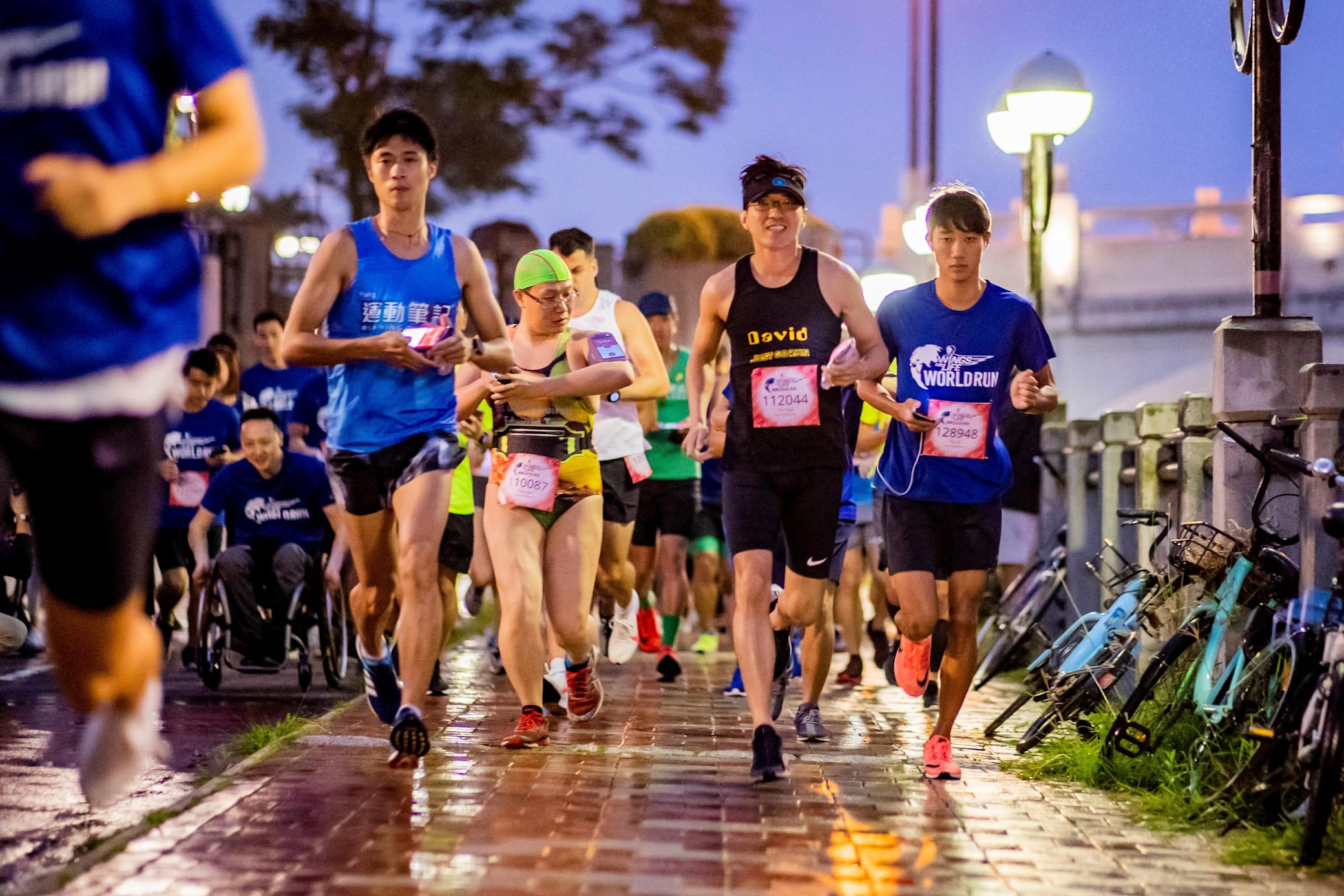 Wings for Life World Run Hong Kong App Run 在沙田城門河兩旁舉行