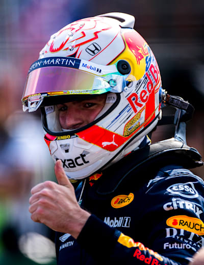 A Happy Verstappen In Hungary