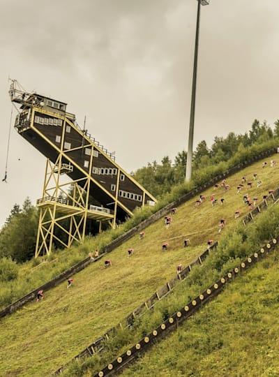 Big mountain run in Harrachov, Czech Republic