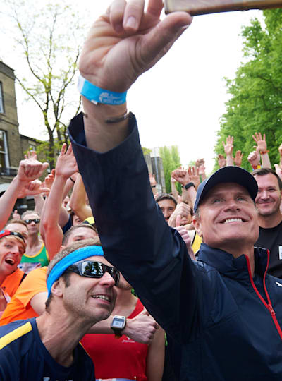 Catcher Car driver David Coulthard in Cambridge