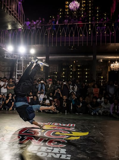 Wing performs for the judge's showcase of the South Zone Cypher