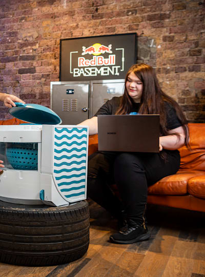 Paramveer Bhachu and Joanna Power of the UK in Red Bull Basement 2020