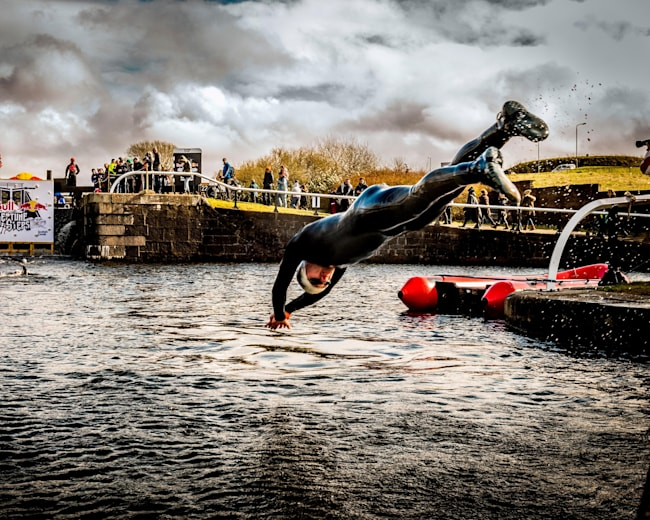 Preparing to make a splash in the Maryhill Locks
