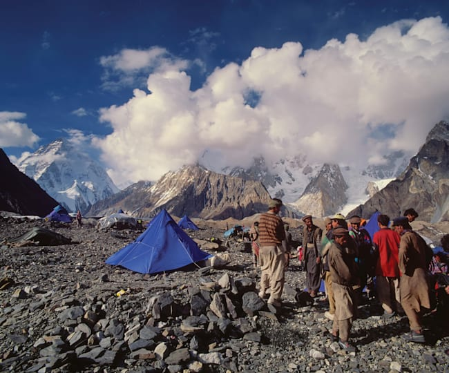 Porters at a K2 camp.