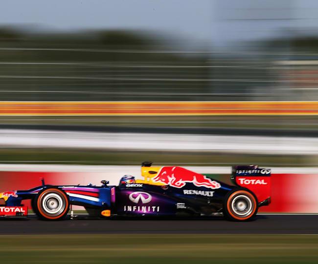Sebastian Vettel se dirige vers la victoire