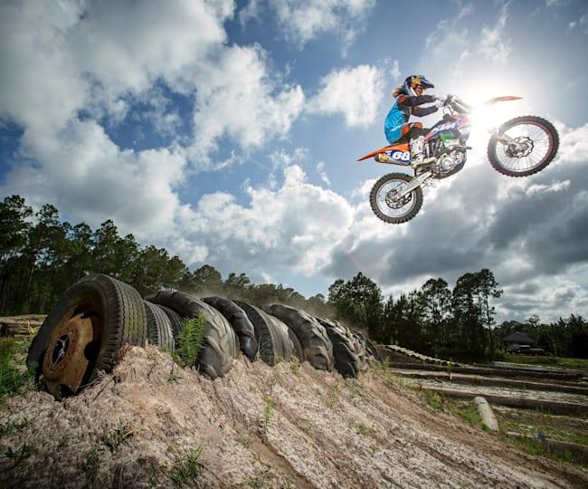 Tarah Gieger takes off