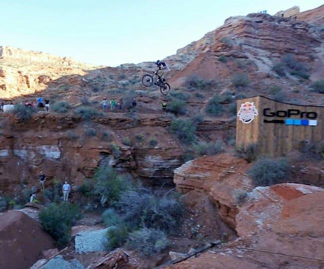 Makken Haugen hits the GoPro Step-down at Rampage