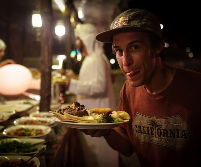 Comida de rua em Dubai