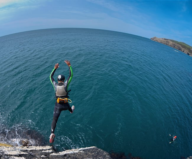 Take a leap of faith and try coasteering