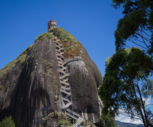 Crazy staircase to the summit of El Peñol