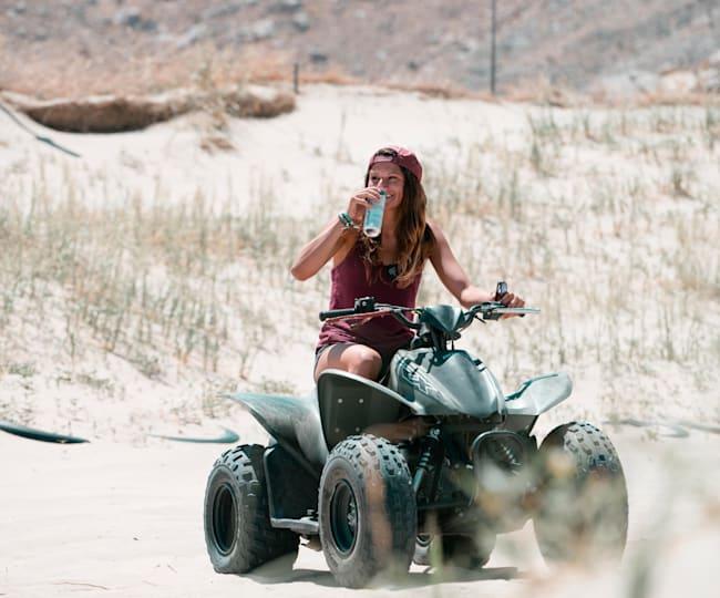 Amber Torrealba on an ATV