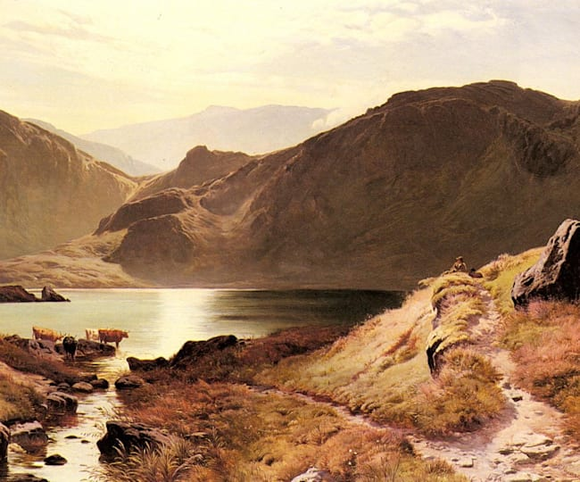 Join some bovine buddies and take a dip in the picturesque Easdale Tarn