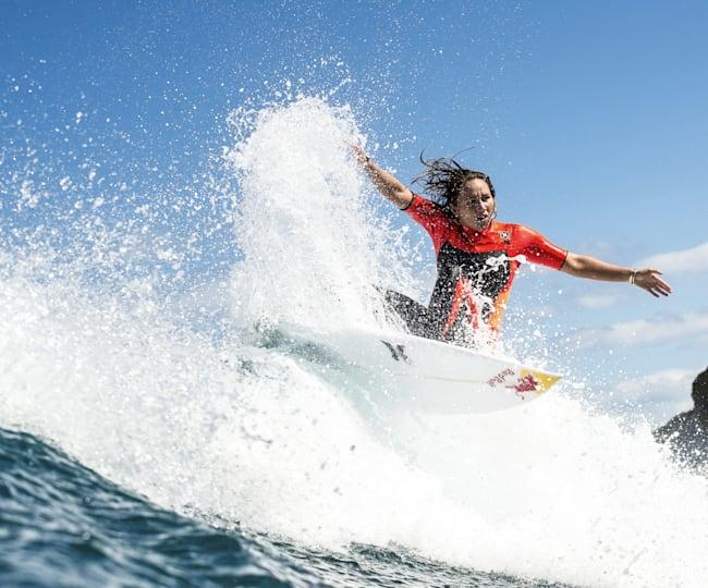 Red Bull athlete Carissa Moore at Bells Beach in 2015.