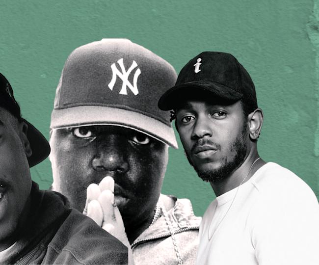 Nas, Tupac, Biggie and Kendrick Lamar.