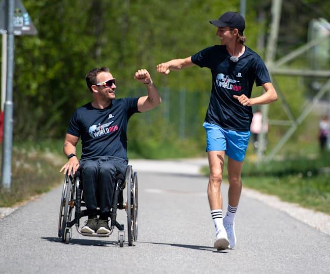 Gregor Schlierenzauer og Simon Wallner under Wings for Life World Run 2021