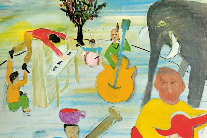 Portada de 'Music From Big Pink', de The Band (1968).