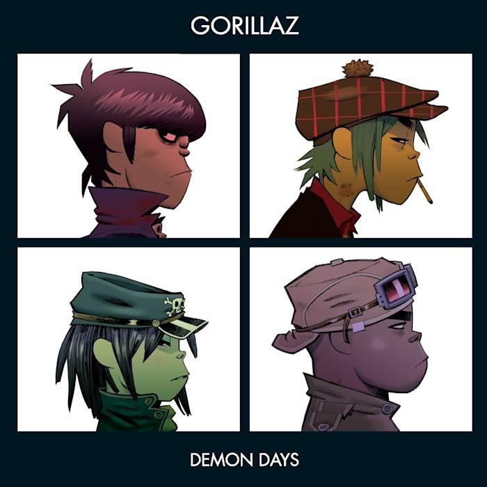 Portada de 'Demon Days', de Gorillaz (2005).