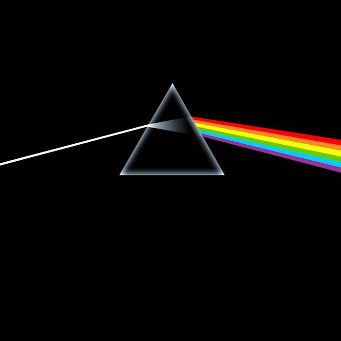 Portada de 'The Dark Side Of The Moon', de Pink Floyd (1973).