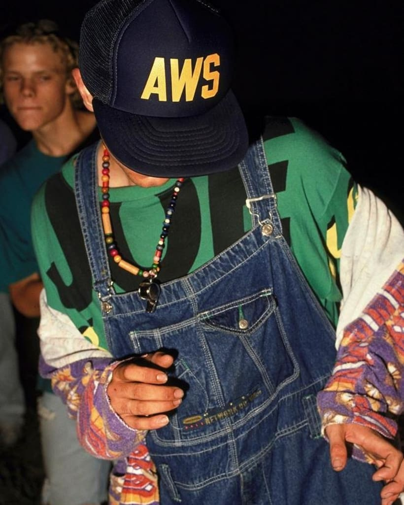 Raver wearing Joe Bloggs t-shirt and dungarees