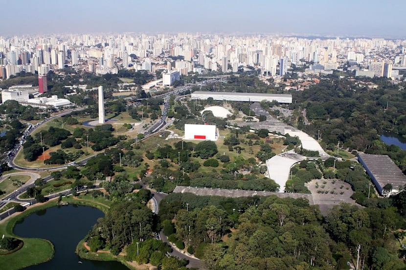 Parque do Ibirapuera visto de cima