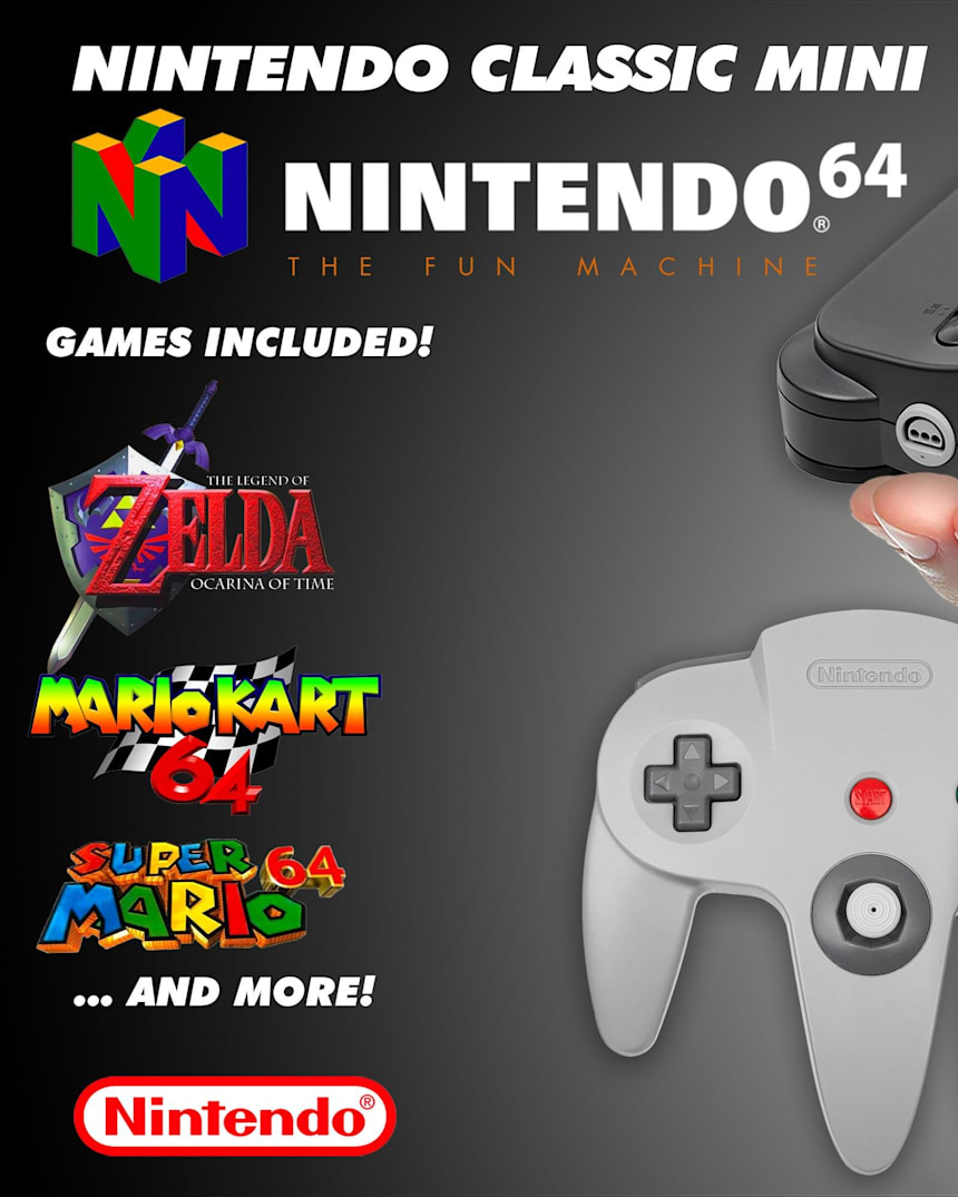 Mini Nintendo 64 Classic Wishlist Red Bull Games