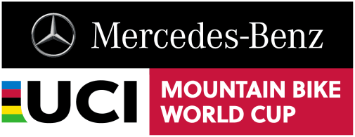 An image of the Mercedes-Benz UCI MTB World Cup logo.