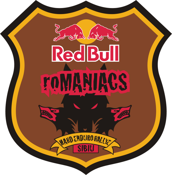 Official Logo of the Red Bull Romaniacs event.