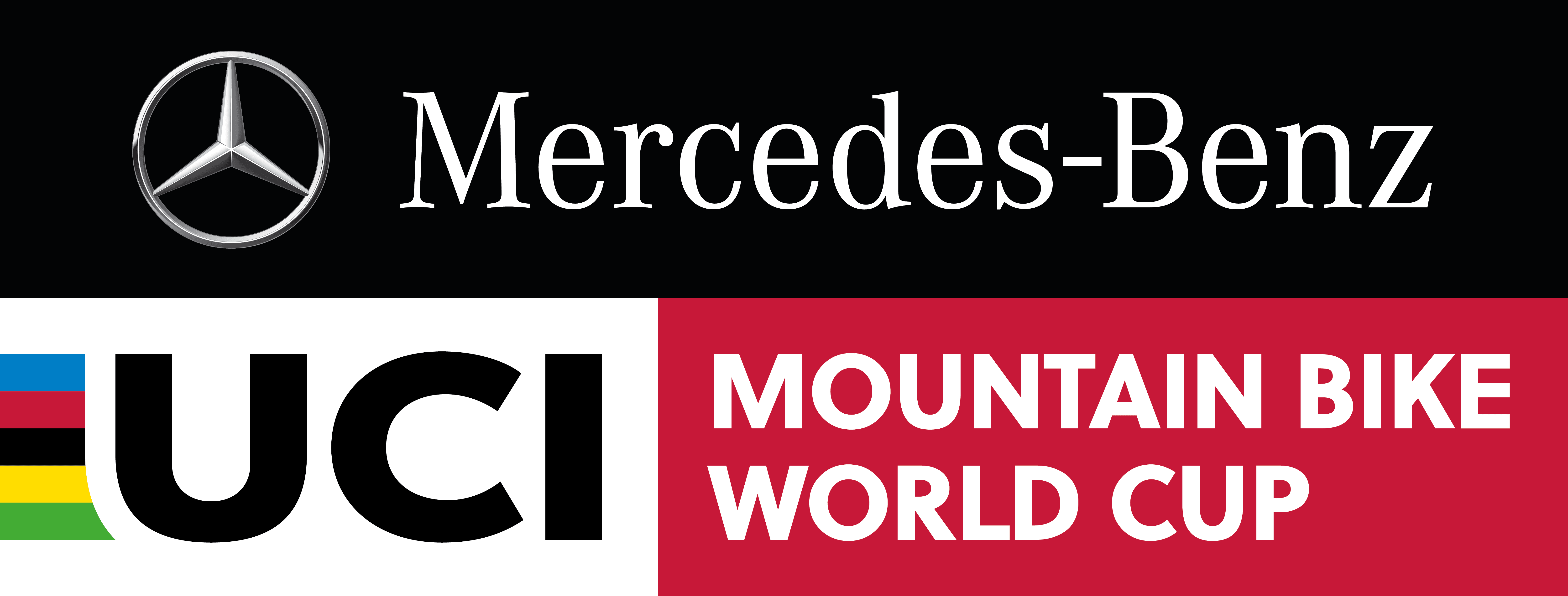 The logo for the Mercedes-Benz UCI Mountain Bike World Cup.