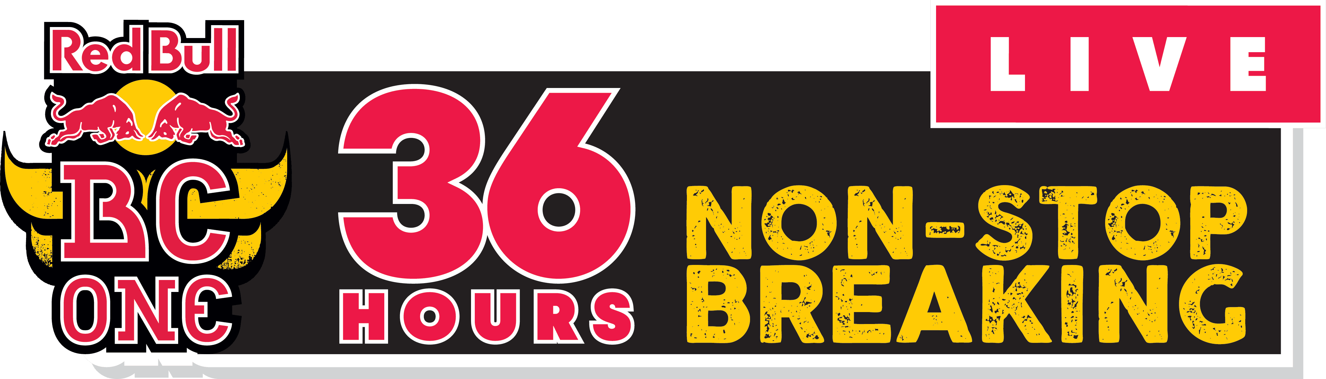 Image of the logo for Red Bull BC One's 36 hours of non-stop breaking.