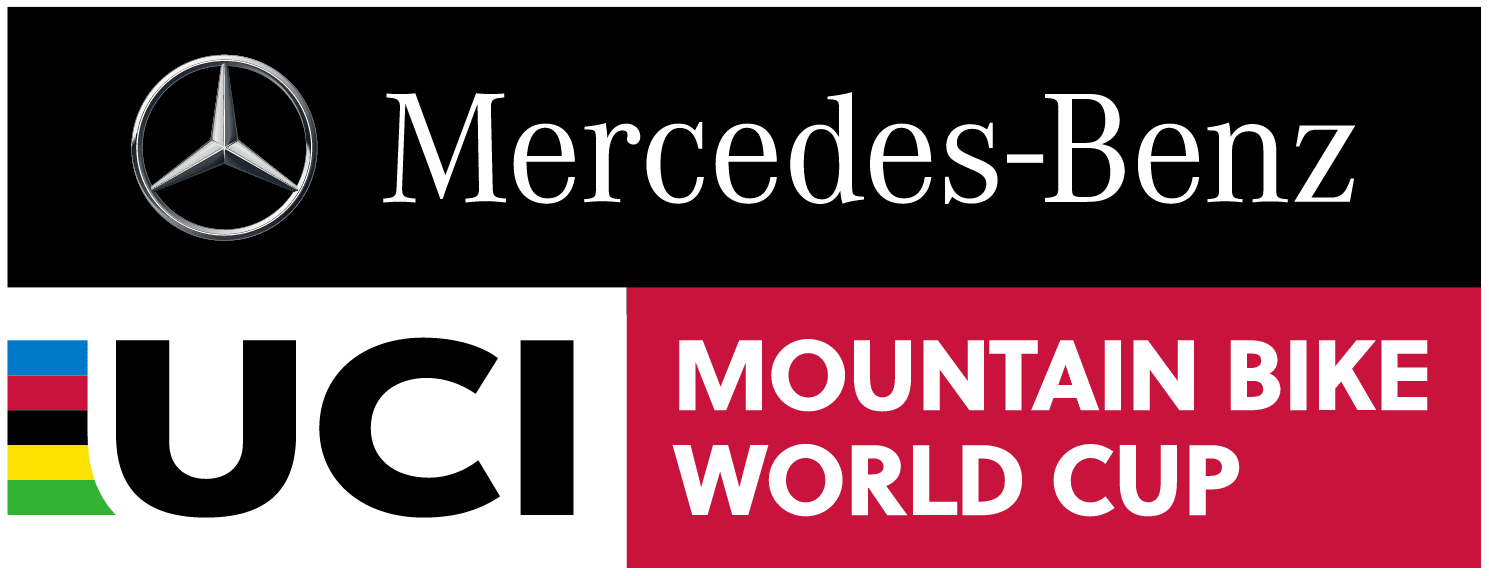 Una imagen del logo de la Mercedes-Benz UCI MTB World Cup.