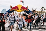 Students having fun at a Red Bull event