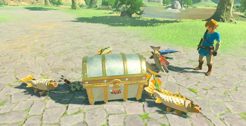 Legend Of Zelda Breath Of The Wild Fishing
